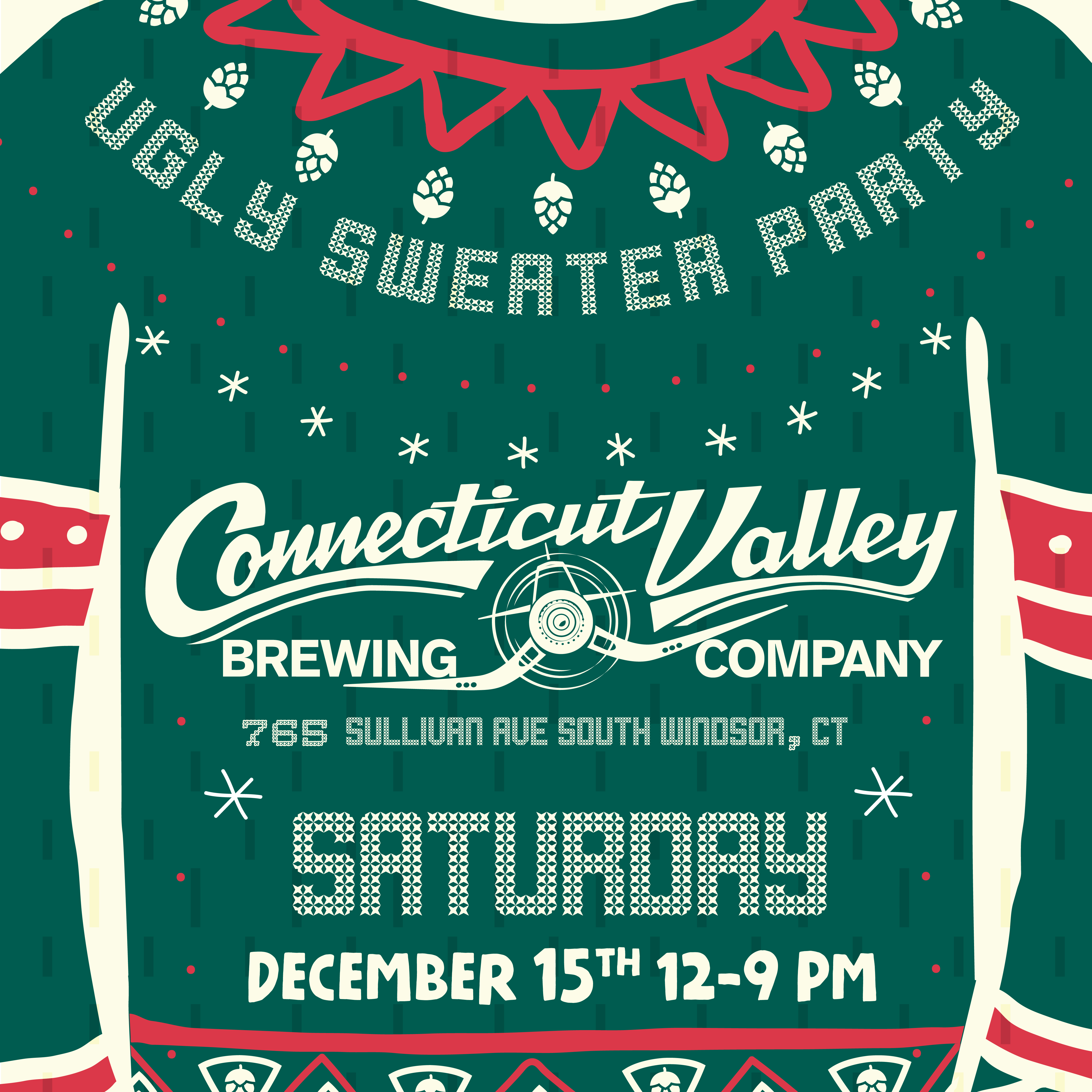 Ugly Sweater Party Connecticut Valley Brewing Company