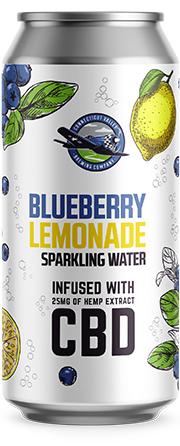 Blueberry Lemonade CBD can